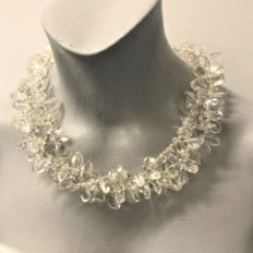 Smooth natural Rock Crystal multi strand £95