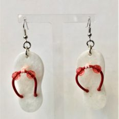 Marble from Romblon, Philippines, flip-flop earrings £15