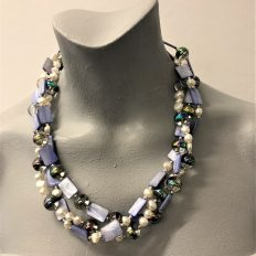 Rock Crystal, mother of pearl and freshwater Pearls, multi-strand – £95