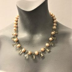 Large freshwater Pearls with crystals – £65