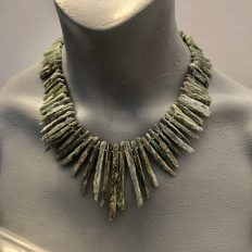 Rough Kyanite shards – graduated necklace – £95