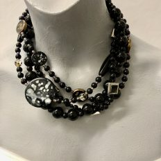 Black multi-strand with a variety of gorgeous beads – £45