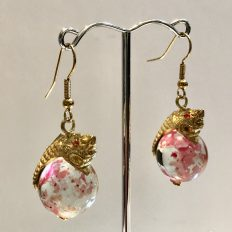 Dragons on glass marbles, earrings – £12.50