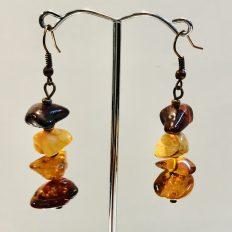 Amber nugget earrings – £17.50