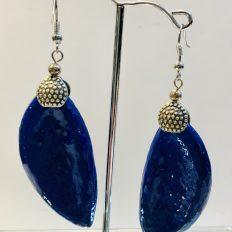 Dried seed pods painted in Majorel blue, earrings – £15.00