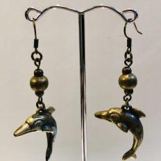 Bronze dolphin earrings – £17.50